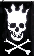 3x5 Ft Skull With Crown Pirate Flag Jolly Roger kf