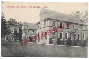 Woodlands, Gresham's School, Holt Old Postcard