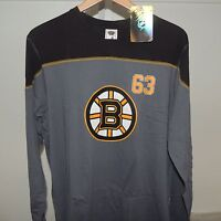 NHL Boston Bruins #63 Cotton Hockey Jersey Shirt New Mens LARGE MSRP $30