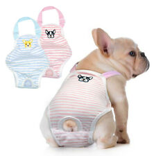 Washable Breathable Dog Diapers with Pack of 2 Dog Belly Wrap Vest Underwear M L
