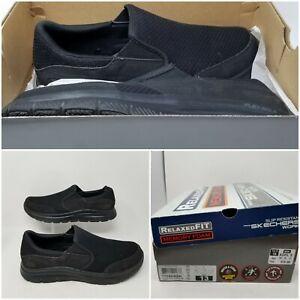 Skechers Flex Advantage Black Slip On Low Walking Shoes Sneaker Men's Size 13