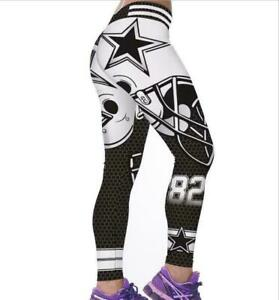 Women Fitness Leggings Team Pittsburgh Stretchy Sport Yoga Pants Gym Training