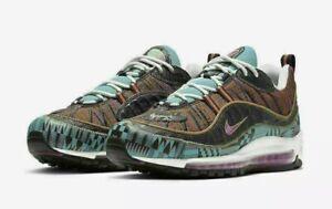 🔥 Nike Air Max 98 Black History Month Shoes Teal CD6090-001 Mens 6 Womens 7.5