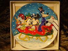 Walt Disney Warm Winter Ride 1978 Christmas Plate