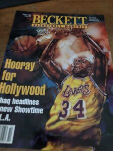 """Shaquille O'Neal  """"Hooray For Hollywood"""" Beckett Magazine Oct 1996! Mint!"""