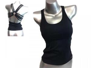 Women's KIpanema Suplex Tank Top Shirt Yoga Workout Fitness Activewear Size S/M