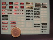 DECALS 1/18 LOGOS FACOM / BREMBO / AREXONS - T403