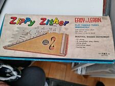 More details for zippy zither 12 string child's musical instrument harp w/ sheet music boxed