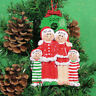 Personalised Family of 3,4,5,6 Christmas Tree Ornament- Christmas Eve Decoration