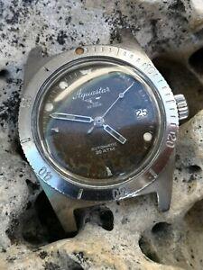 🔝Reloj Watch 🇨🇭Aquastar 60🌊Diver Automatic Vintage JeanRichard NOT WORKING