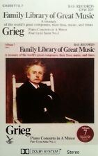 FAMILY LIBRARY OF GREAT MUSIC CASSETTE GRIEG TAPE FREE POST IN AUSTRALIA