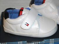 Tommy Hilfiger White Crib Shoe Flag Logo Sneaker Mini Cameron Style 2 3 4 NEW