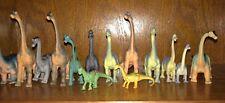 Sauropod Dinosaur lot of 14, Brachiosaurus & Apatosaurus, 2-4.5 inches tall unbr