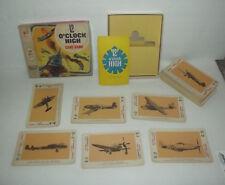 VINTAGE MILTON BRADLEY TWELVE O'CLOCK HIGH CARD GAME WW II GERMAN US AIRPLANES