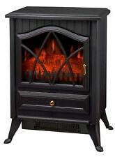 New 1850W Log Burning Flame Effect Stove Electric Fire Heater Fireplace Plastic