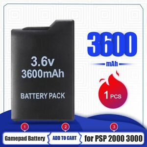 1pc Gamepad Battery 3.6v 3600mah For Sony Psp2000 Psp3000 Playstation Portable