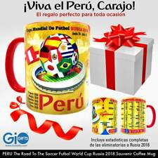 PERU The Road to the Futbol World Cup Russia 2018 Coffee Mug 11oz. Souvenir