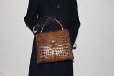 Luxus! XL orig. Goldpfeil Germany IRV Siegel Kroko Leder Tasche Kelly bag top!