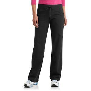 Danskin Women's Regular DriMore Relaxed Pants Yoga Fitness Activewear, Black, L