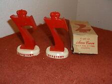 VINTAGE NEW IN BOX  SEAGRAM'S 7 PLASTIC SALT & PEPPER SHAKERS