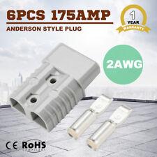 6PCS 175 AMP Anderson style plugs Caravan Trailer Solar Panel Connector 2AWG
