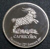 1970 Lunar Mint Capricorn Zodiac .925 Fine Silver Art Medal Proof Round Coin