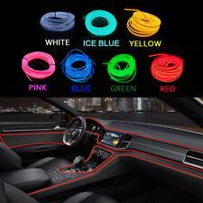 1/2/3/5M Car LED EL Wire Light Strip Interior Atmosphere Glow Neon Lamp Decor