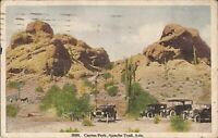 Apache Trail, ARIZONA - Cactus Park - 1918 - old cars