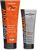 FRESH BALLS 3.4 oz & FRESH BODY Hair & Body Wash 8 oz Bottle! All-in-One Wash!