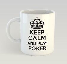 Keep Calm And Play Poker Mug Funny Birthday Novelty Gift Gambling Casino