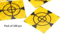 100x Retro Survey Targets (100 Pack) 20x20 mm Adhesive For Total Stations EDM