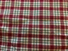 Plaid, Red & Green Fabric, Christmas, Quilting, Sewing, Craft, 3.25 Yards
