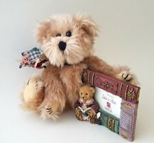 Teddy Bear plush doll stuffed animal red green gold picture frame plaid ribbon