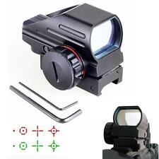 Red Green Dot Sight Scope Tactical Reflex Laser 20mm for Rifle Picatinny Rail MT
