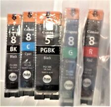 Canon Ink PGI-5 Value Pack: XL Black PLUS CLI-8 Green/Cyan/Red/Black
