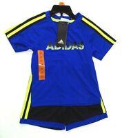 Adidas 2 Piece Active Set for Boys - T-Shirt, Short,  Royal  Blue  Size 2T