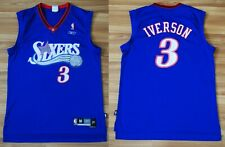 PHILADELPHIA 76ERS SIXERS ALLEN IVERSON REEBOK BLUE NBA JERSEY SIZE MENS MEDIUM