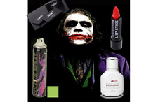 Fancy Dress Joker Batman Makeup Foundation Lipstick Palette UV Hair Spray
