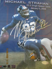NFL NEW YORK GIANTS AUTOGRAPHED MICHAEL STRAHAN 8X10