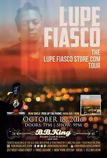 Lupe Fiasco 2016 New York City Concert Tour Poster - Hip Hop, Rap Music