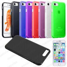 Funda + 2 PROTECTOR carcasa para iPhone 7 (4.7) Gel TPU Lisa Mate Colores Varios
