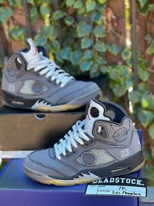 Jordan 5 Off-White Black Muslin 2020 Size 10.5 CT8480-001 Sneakers