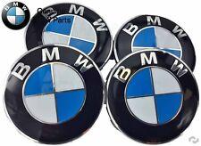 NEW BMW E63 E70 E88 E90 E92 E93 Set of 4 Wheel Center Hub Cap + Emblem Genuine