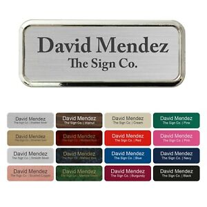 "Custom Name tag, ID Badge. Personalized with Badge Frame Holder.  1"" x 3"""
