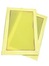 2 Pcs  Aluminum Screen Printing Screens 20*30cm Frame - 350 Yellow Mesh