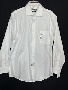 Lauren Ralph Lauren White Dress Shirt Men Size L, 16 1/2 32-33 Cotton Career $79