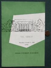1958 Bloomington,Indiana University Li'l Abner program-Auntie Mame Too-Vintage!*