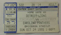 October 24, 1999 football  ticket stub ~ DETROIT LIONS vs CAROLINA PANTHERS