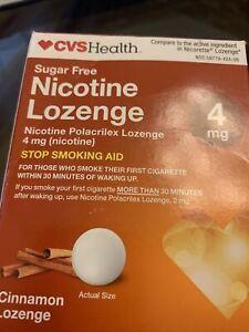 CVS Nicotine Lozenge 4 mg SUGAR FREE• CINNAMON . 96 LOZENGES• EXP: 03/21