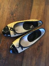 Russell And Bromley Size 4 (37) Pump Shoe Beige And Black